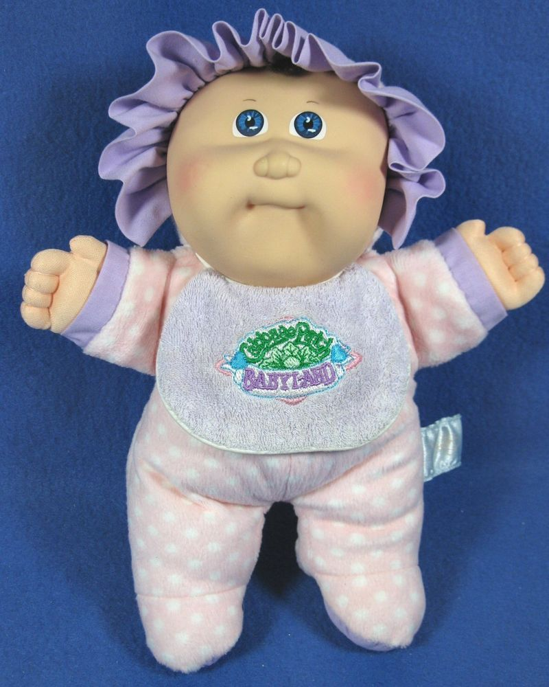 Vintage Hasbro 1988 Cabbage Patch Kids Plush Babyland Squeaker Doll Blue Eyes Cabbage Patch Kids Cabbage Patch Dolls Cabbage Patch
