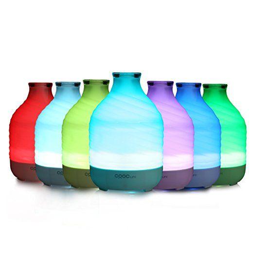 Amazon.com: CRDC 200ml ripple vase type glass aromatherapy diffuser: Health & Personal Care