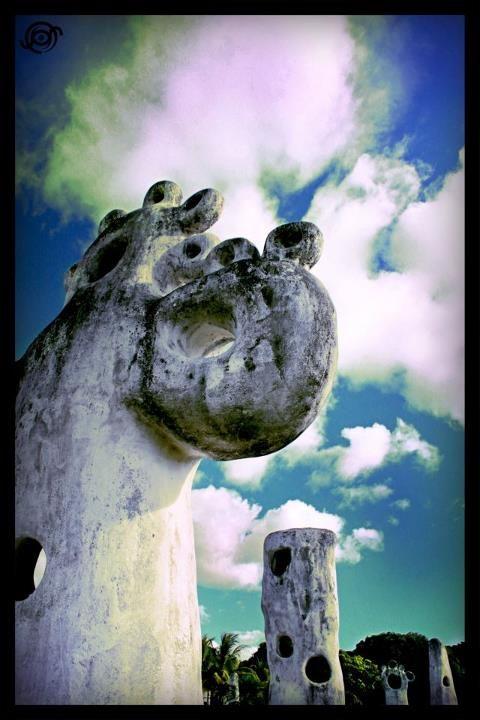 Statue in the Beach, Managua, Nicaragua