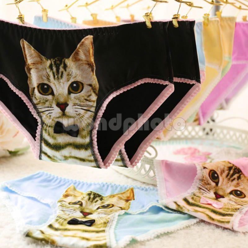592a44eff0b6 $1.53 - Women Pussycat Panties Anti Emptied Kitty Cat Print Underwear  Seamless Briefs #ebay #Fashion