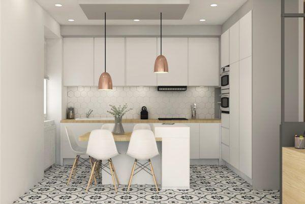 renovation-amenagement-appartement-oullins-lyon-decoration-travaux - Renovation Meuble Cuisine En Chene