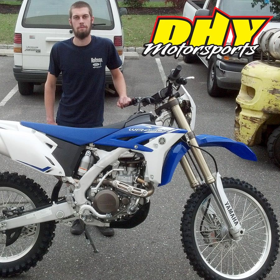 Congratulations To Al On His Purchase Of This 2013 Yamaha Wr450r Enjoy This Great Ride And Thanks For Making Dhymotorsports Your Dealers New Honda Yamaha Ktm