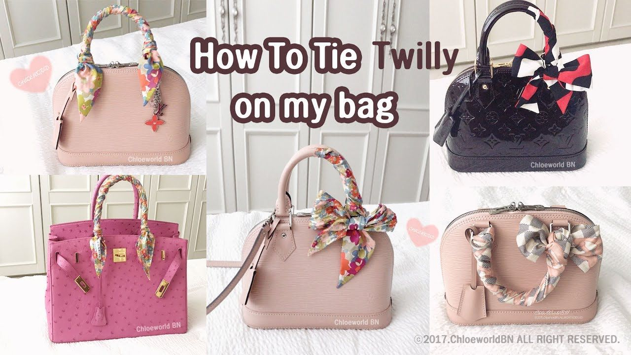 How To Tie Twilly Scarf On a Bag Handle   Scarf on bag