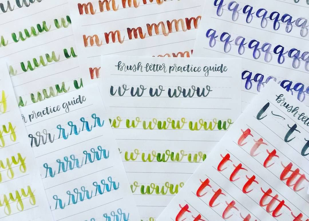 Been Busy Learning Brush Lettering With These Helpful