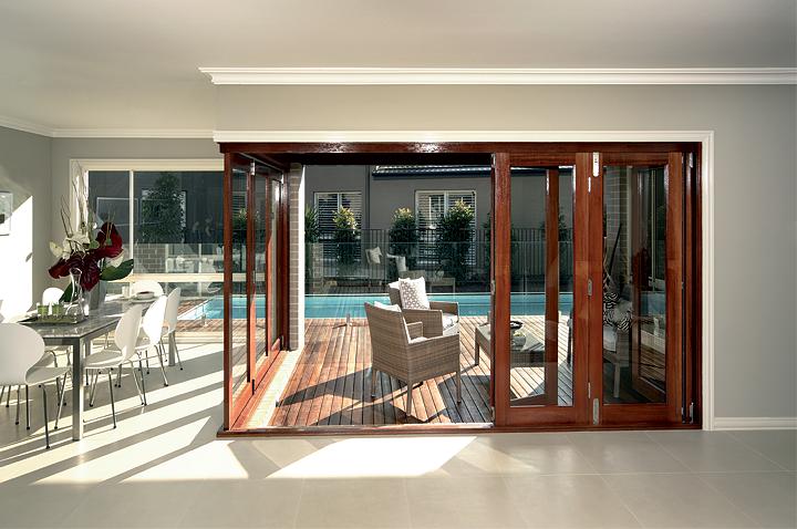 Alfresco Bi Fold Door System Stunning For Patio And Deck Doors For The Outdoor Room Supplied B Bifold Doors Wood Doors Interior Contemporary Interior Doors