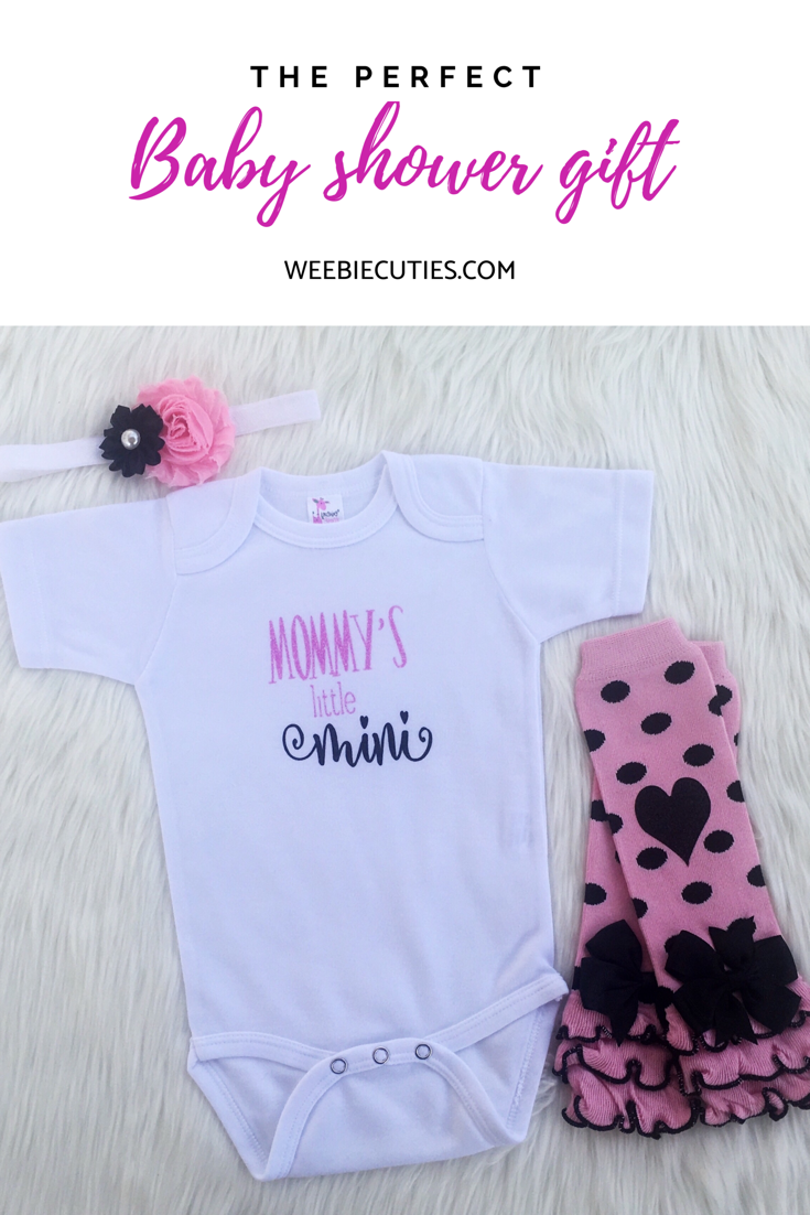 96f7c5f947677 Baby Girls Boutique Clothes, Pink And Black Mommy's Mini Bodysuit ...