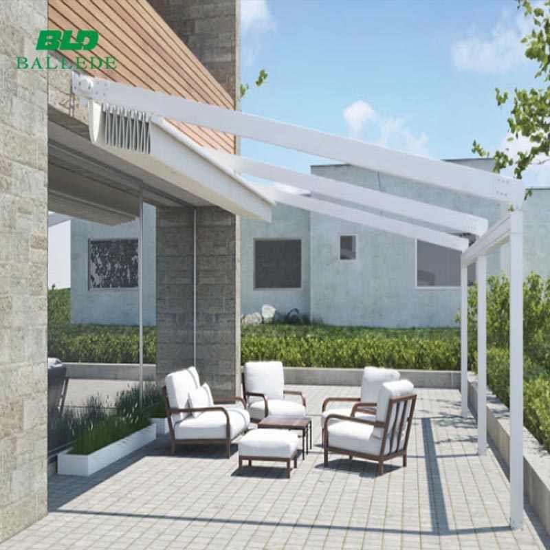 Source Retractable Remote Control System Sun Shade Balcony Terrace Cover Roof Awning On M Alibaba Com In 2020 Retractable Pergola Pergola Backyard Pergola
