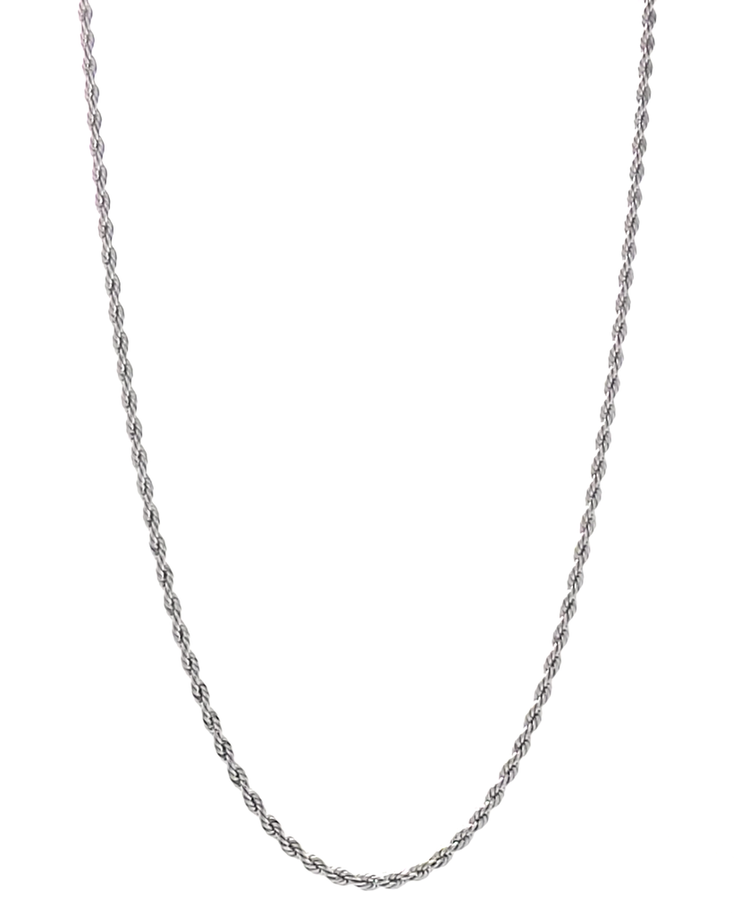 Mens Silver Rope Chain Silver Man Mens Jewelry Rope Chain