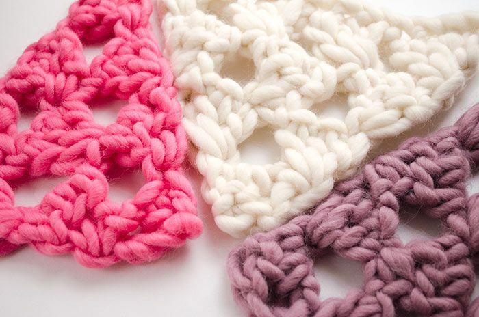 Cómo tejer punto triángulos a crochet | Tejer punto, Cómo tejer y ...