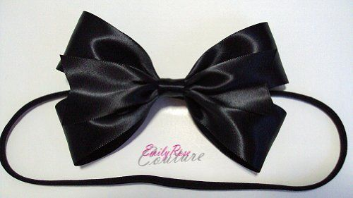Black Shiny Satin Alice in Wonderland Double Ribbon Hair Bow Headband by EmilyRose Couture, http://www.amazon.com/dp/B0093A5COM/ref=cm_sw_r_pi_dp_PX2trb1CPMYD2