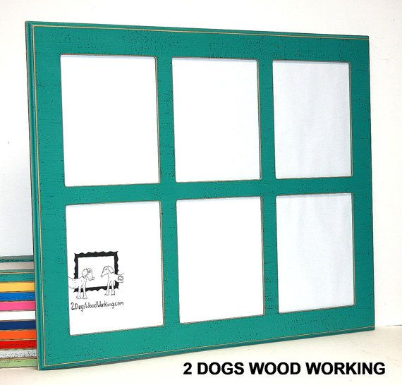 Picture Frame Collage 6 8x10 Multi Photo Frame Window Pane Design