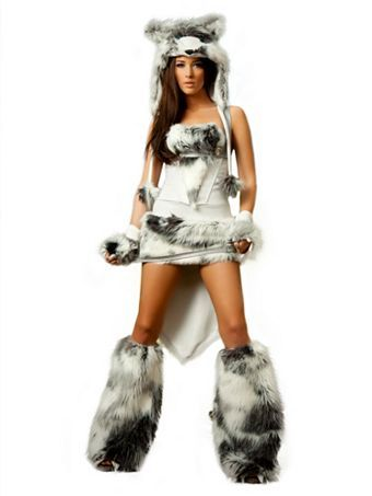 Womens Deluxe Sexy The Husky Costume Sexy Animals Halloween