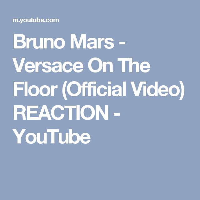 Versace On The Floor (Official Video