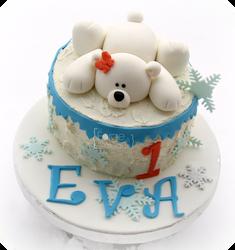 Polar bear Birthday Cake - La Forge à Gâteaux #PolarBearCake # www.laforgeagateaux.com
