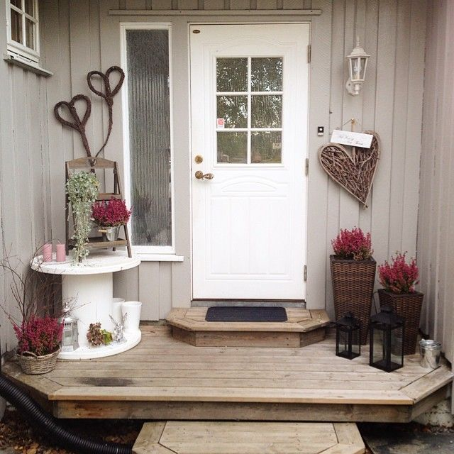 hauseingang deko au en. Black Bedroom Furniture Sets. Home Design Ideas
