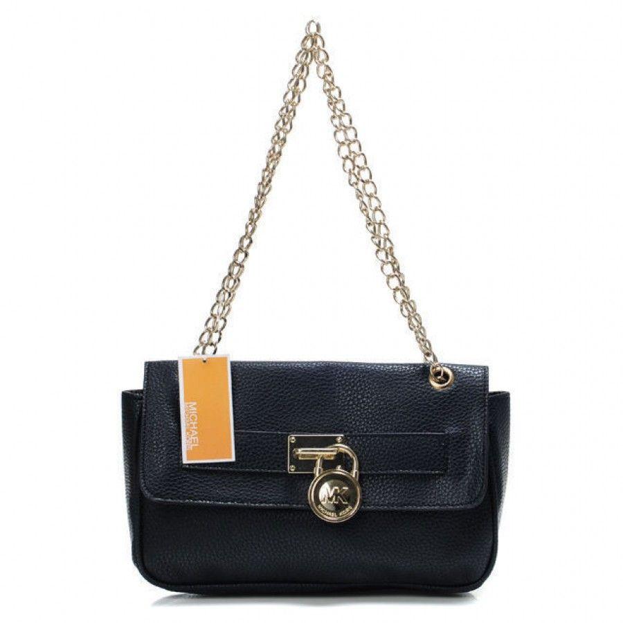 d282a19546488e Michael Kors Sloan Black Small Shoulder Bag Size:26 * 18 (CM)1.Golden  hardware.2.Removable crossbody strap.3.MK circle logo.4.Imported.