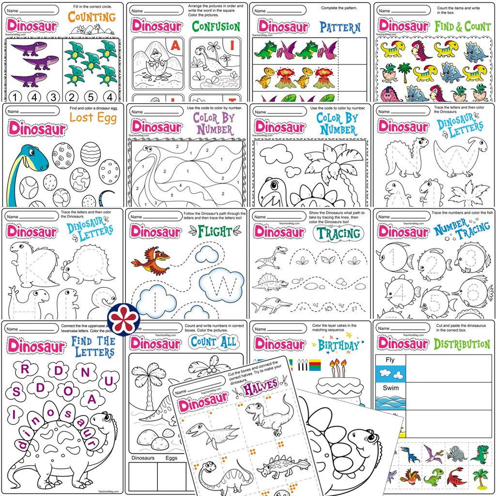 Dinosaur Worksheets And Activities In