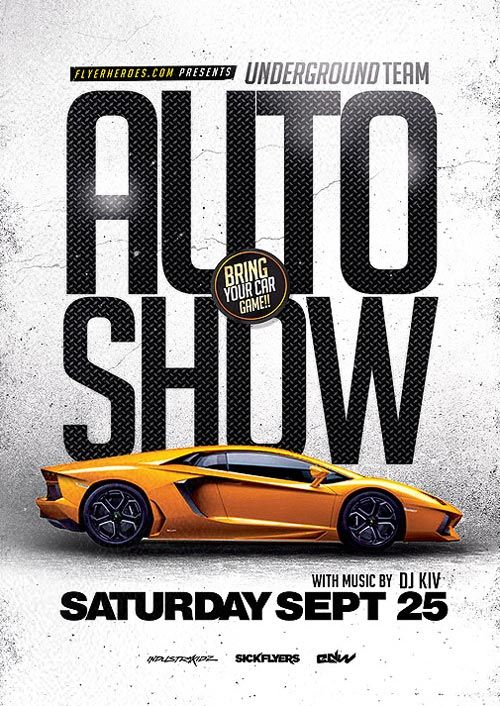 Pin By Hristo Dimchev On Flyers Pinterest Flyer Template Flyer - Car show flyer background