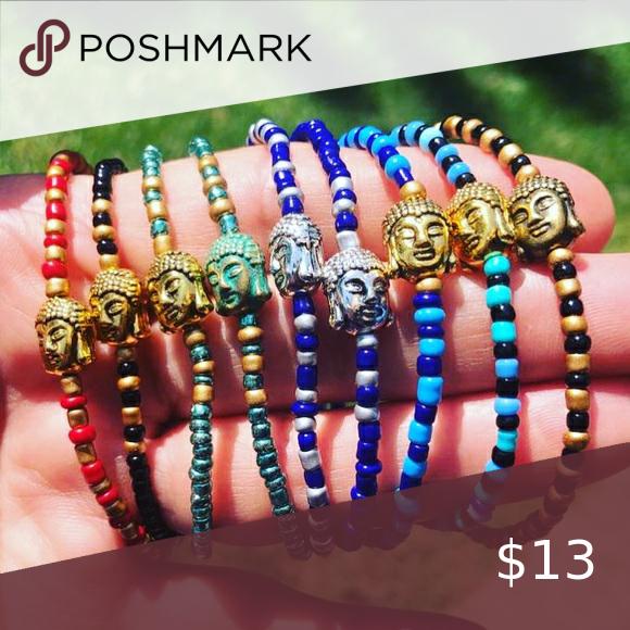 BEADED BUDDHA BRACELET Handmade single strand beaded bracelets Jewelry Bracelets