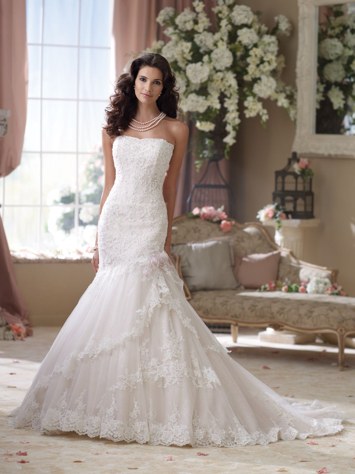 Style no 114291 david tutera for mon cheri wedding for David tutera beach wedding dresses