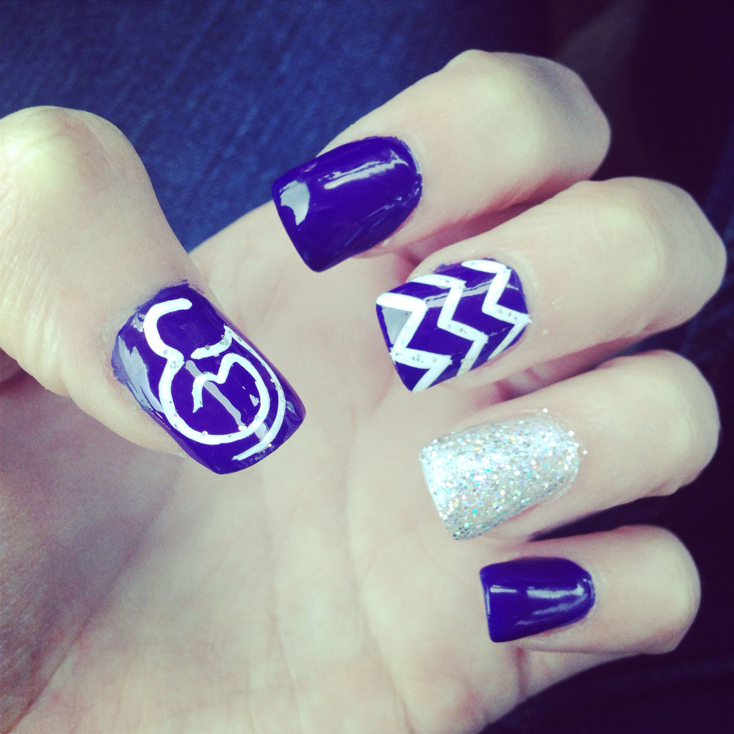 Purple March of Dimes nails! | My Style | Pinterest | March, Style ...