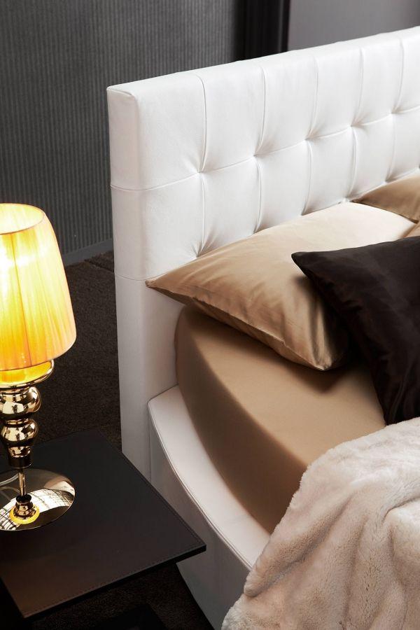 Die besten 25+ Weißes lederbett Ideen auf Pinterest Lederbett - schlafzimmer design ideen roche bobois
