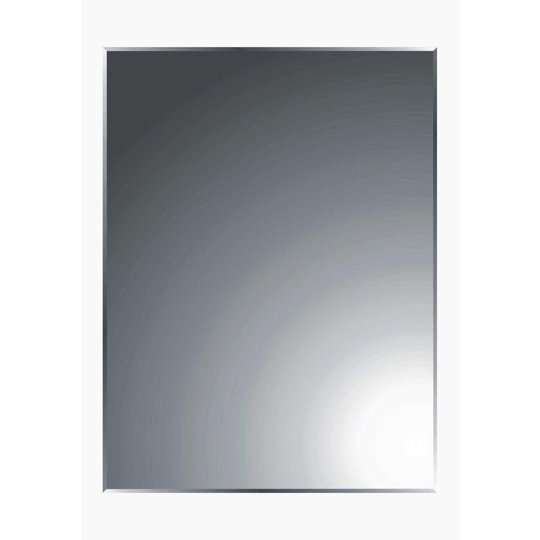 Miroir Non Lumineux Decoupe Rectangulaire L 45 X L 60 Cm Biseaute Miroir Miroir Biseaute Et Miroir Salle De Bain