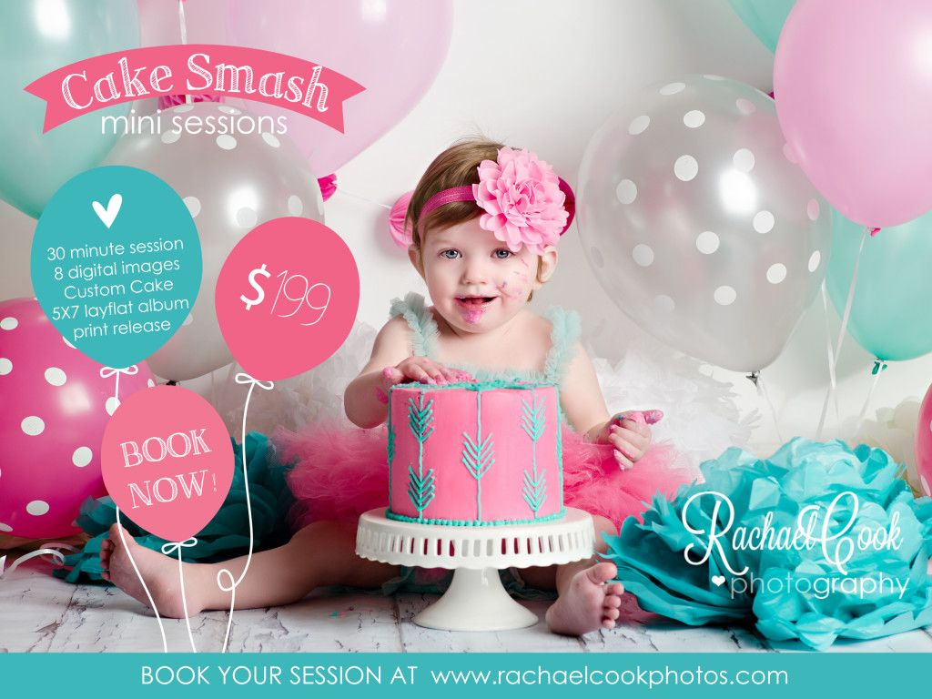 Rachael Cook Photography Idaho Falls Newborn And Child Photographer Cake Smash Session