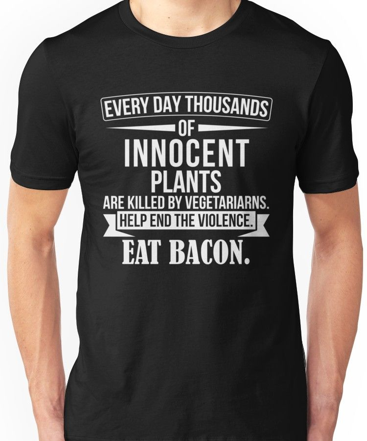 'Funny Anti Vegetarian Quote - Gift For Meat Lovers' T-Shirt by shirtrevolution #vegetarianquotes