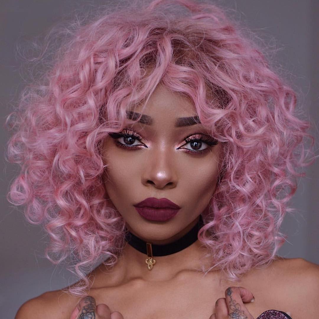 nyanelebajoa pink hair cabelo