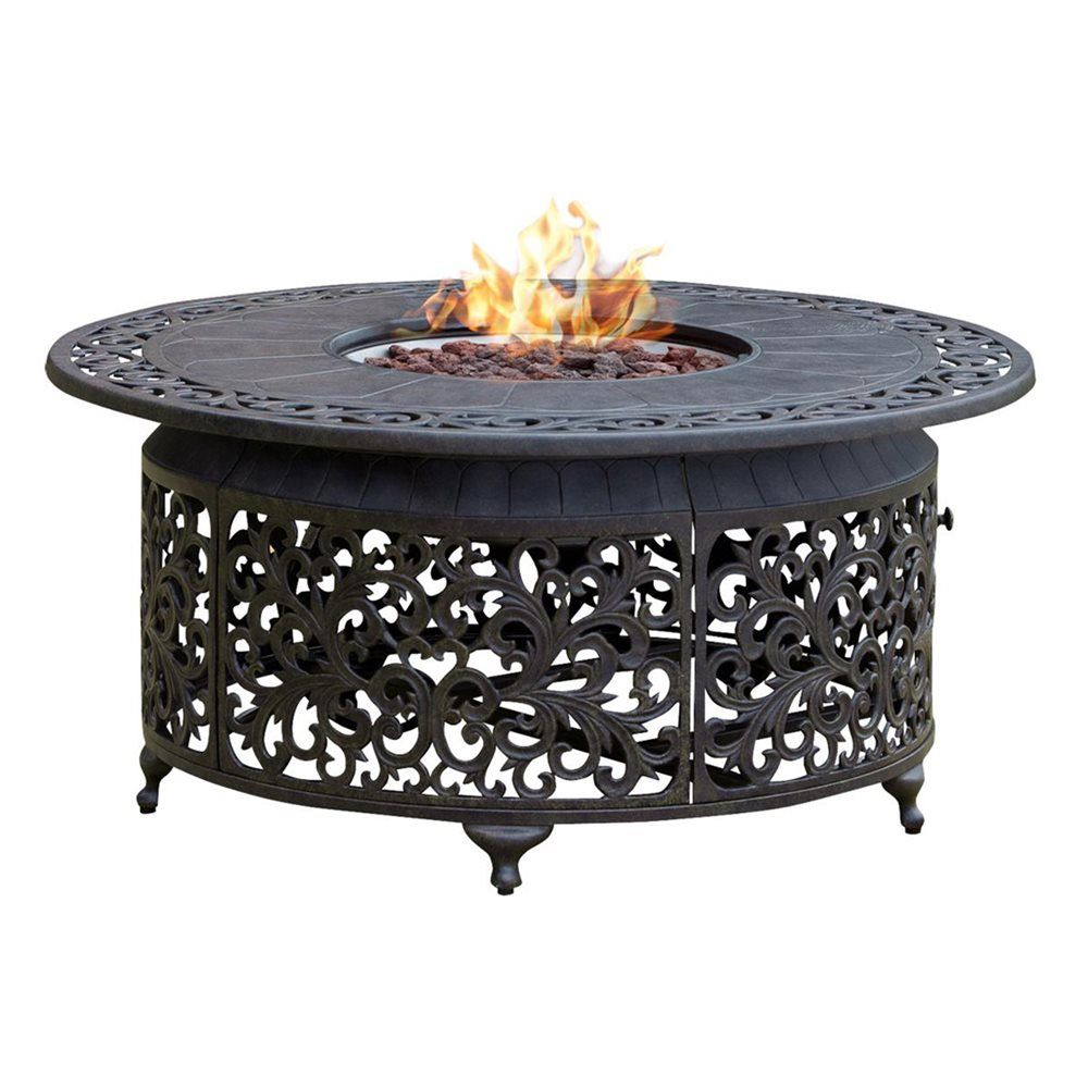 Shop paramount fp 251 round outdoor propane fire pit table for Buy outdoor fire pit