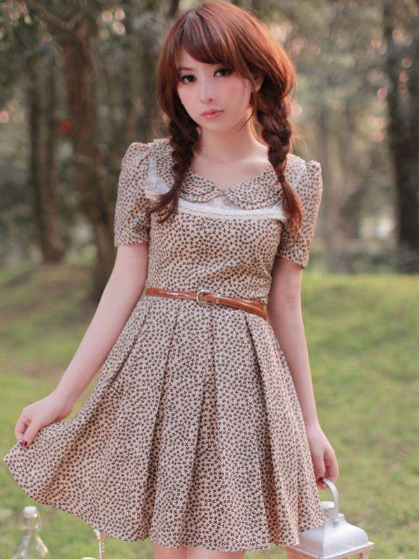 mesh lace chiffon dress with belt