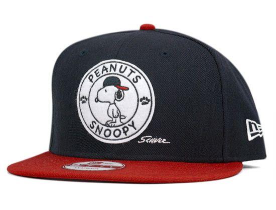 Snoopy Badge 9Fifty Snapback Cap by PEANUTS x NEW ERA  28e14ee1057