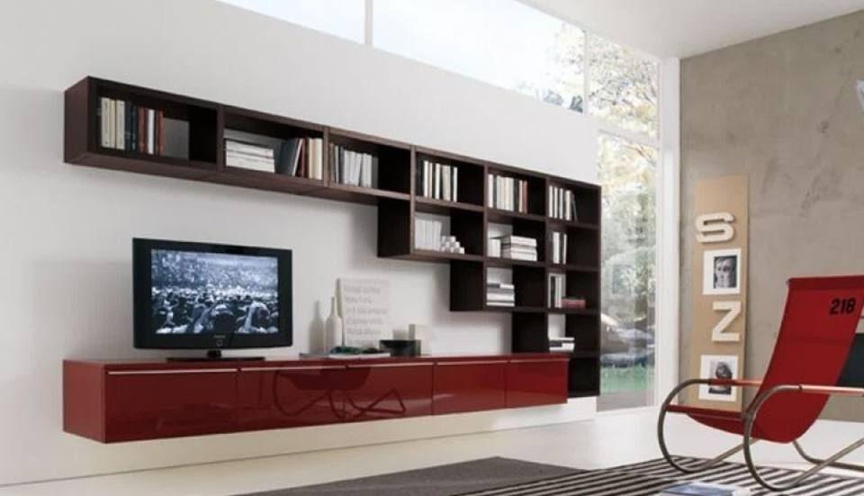 Soggiorno libreria ~ Illuminazione soggiorno travi a vista salone di legno librerie