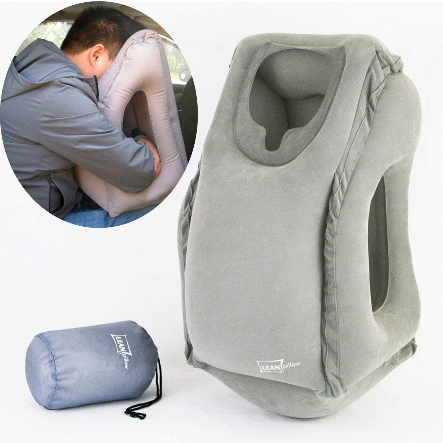 inflatable travel neck pillow for
