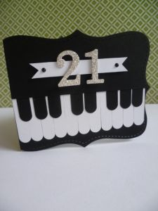 21st Piano Card Using The Top Note Die