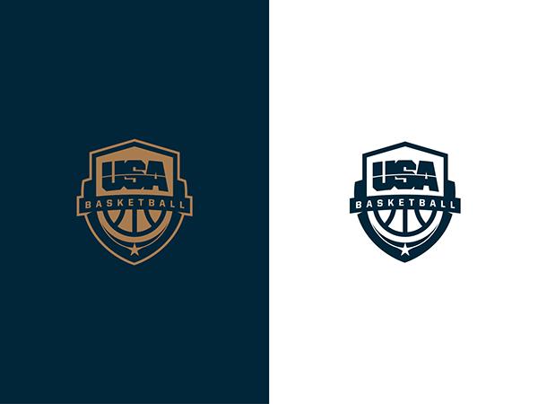 Usa Basketball Logo On Behance Usa Basketball Corporate Identity Design Brand Identity Design