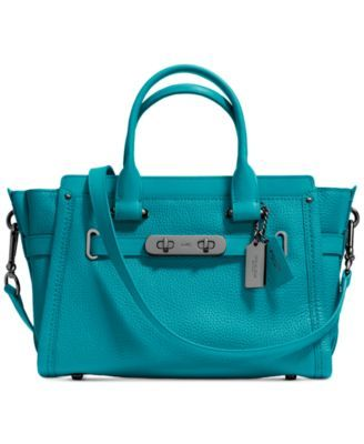 COACH Swagger 27 in Pebble Leather   macys.com