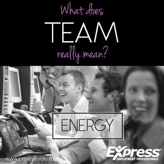 Energy - Think about the type of co-worker you would like