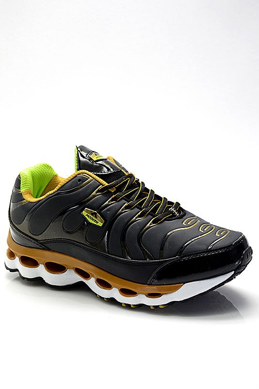 57d93f1cb6d Αθλητικά : Γυναικείο Αθλητικό με Αερόσολα W8002 Μαύρο-Χρύσο | shoes ...
