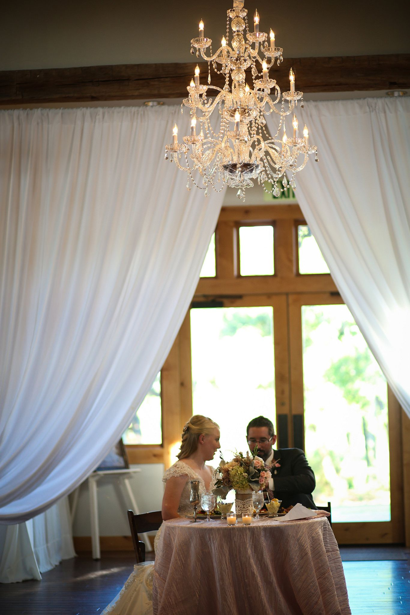 Gorgeous Pearl Chandelier -IC Event Hall --MiKayla Bourque Photography