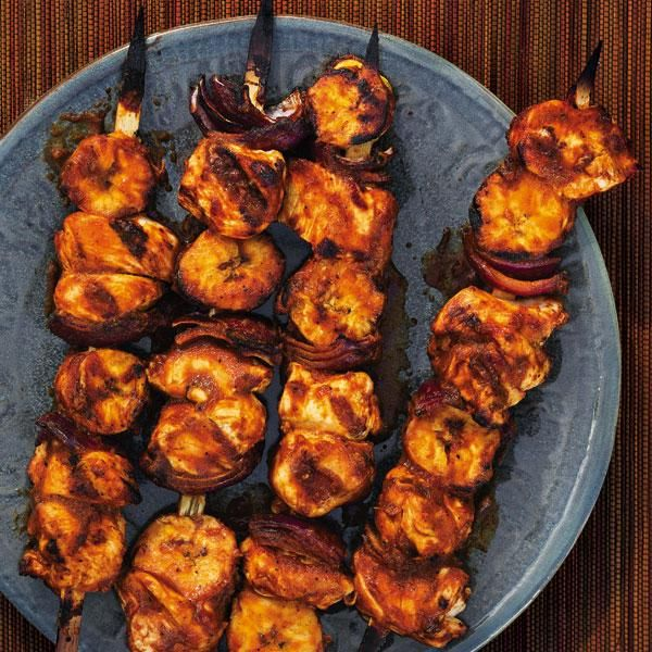 Costa rican chicken and plantain skewers bbq grilling good times costa rican chicken and plantain skewers forumfinder Choice Image
