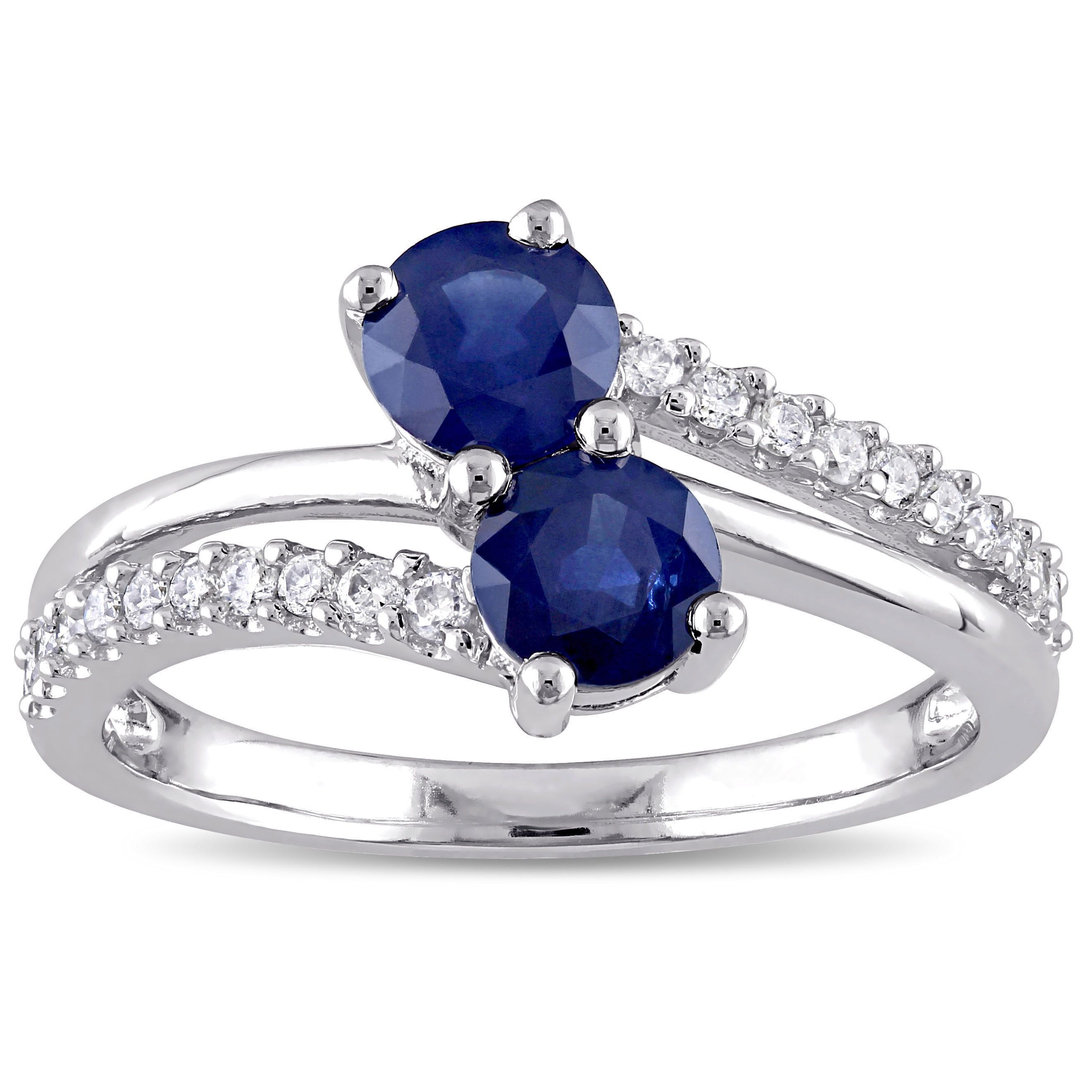 sapphire diamond pear ring halo in gold white with tw shape