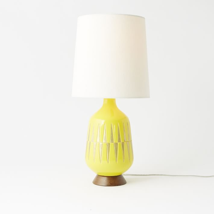 Nursery Table Lamps Lamp Yellow