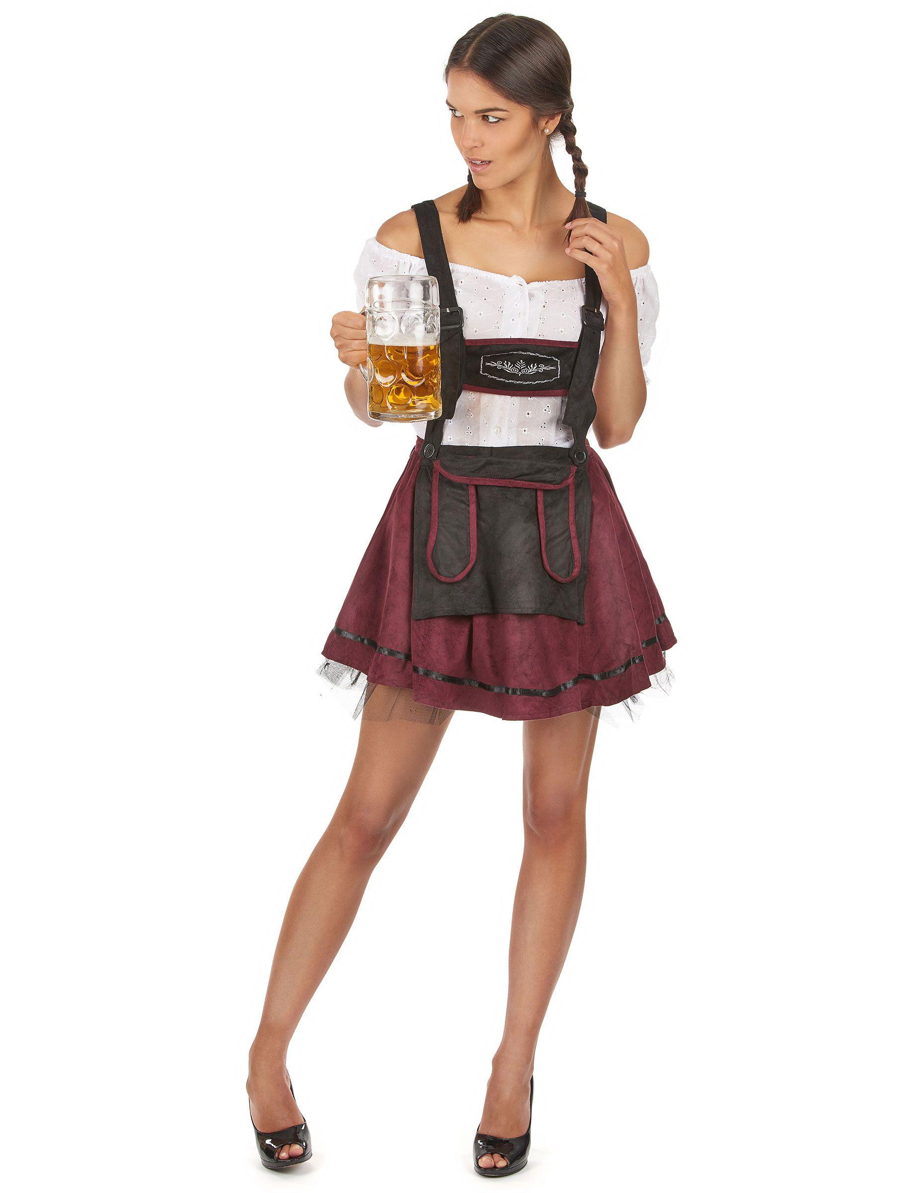 Déguisement bavaroise bordeaux sexy femme   Ce déguisement de bavaroise  sexy pour femme est composé d f4020128881