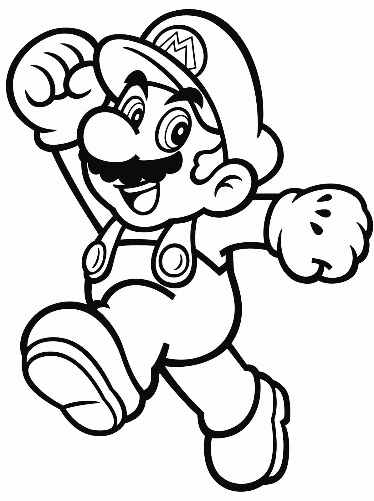 24 super mario brothers coloring page in   super