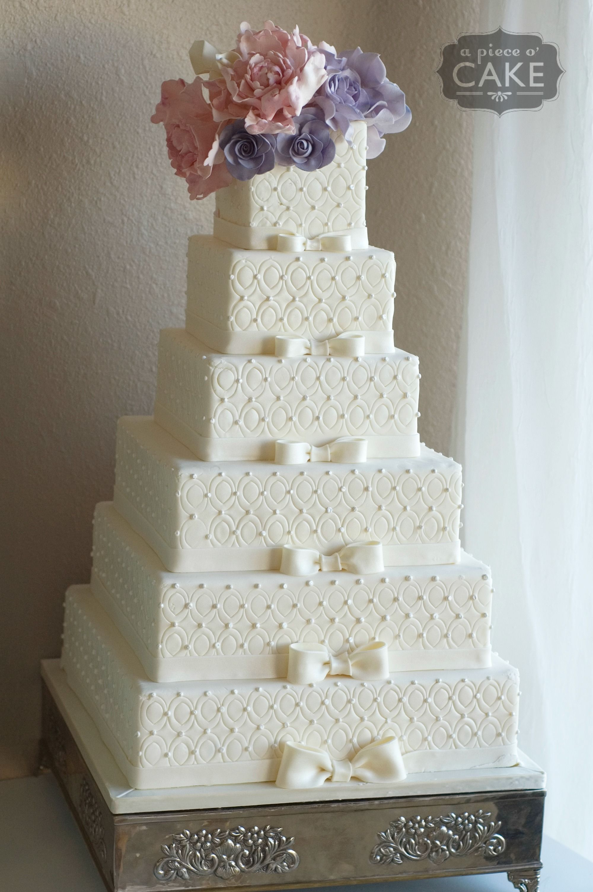 Pin By A Piece O Cake On Fondant Wedding Cakes Beautiful