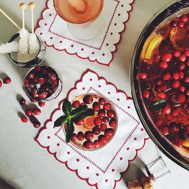 This season we're ALL about a boozy (champagne!) punch, with a few unexpected garnishes like sugared cranberries or rock sugar swizzle sticks! Now that you know how we'll be celebrating the season, show us yours with  #MyHolidayStyle !!