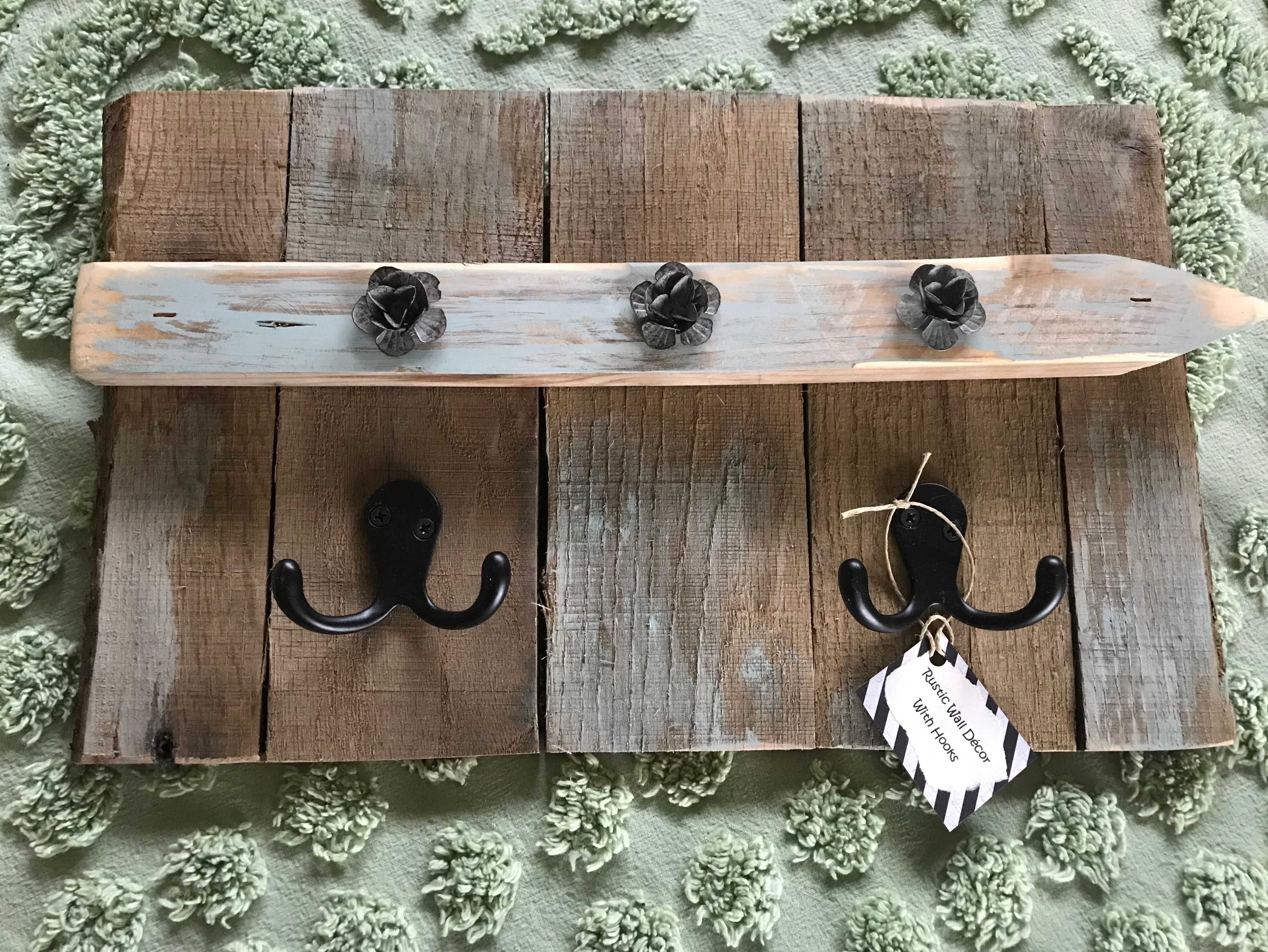 Pallet Wood Wall Decor With Hooks Wood Pallet Wall Wood Wall Decor