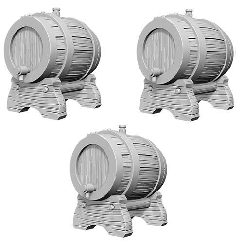 Keg Barrels Miniature Pathfinder Deep Cuts Unpainted Miniatures
